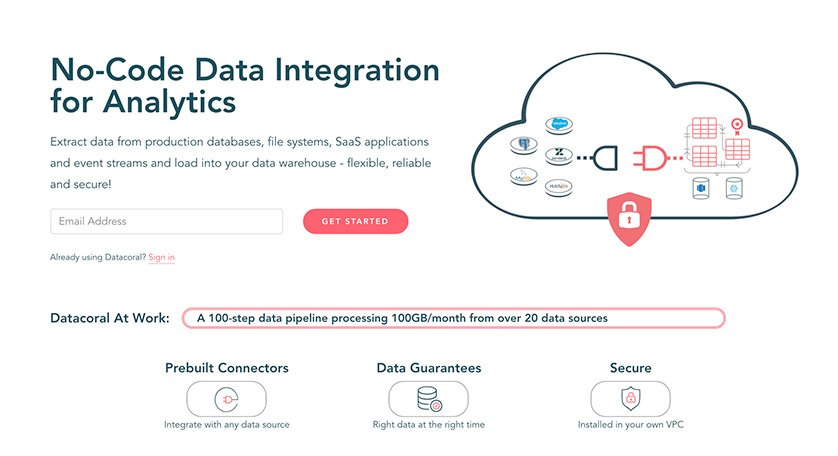 Datacoral offers No Code Integration for Analytics