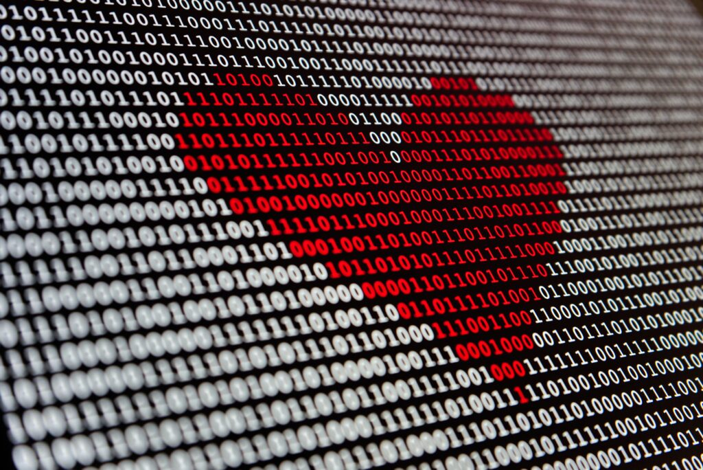 change data capture - data in a heart shape